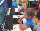children in a computer room